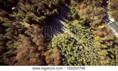 Aerial View of the Jura Mountain Forest