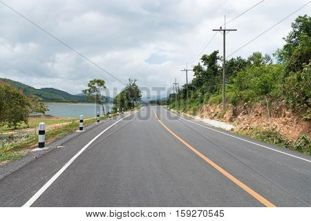 Country Roads of thailand / Road country