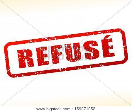 Illustration of refused buffered on white background