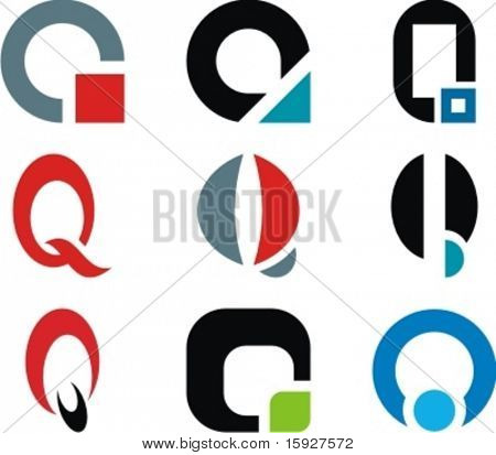Alphabetical Logo Design Concepts. Letter Q. Check my portfolio for more of this series.