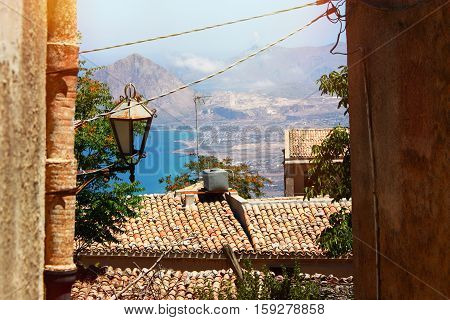 Beautiful Landscape of the Erice, Sicily Italy