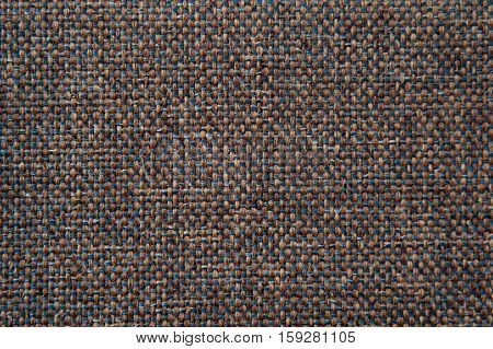 fabric texture blue and brown gobelin for background
