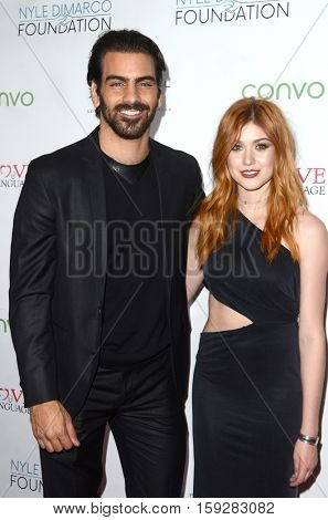 LOS ANGELES - NOV 30:  Nyle DiMarco, Katherine McNamara at the Nyle DiMarco Foundation Love & Language Kickoff Campaign 2016 at Sofitel Hotel on November 30, 2016 in Beverly Hills, CA