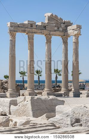 The Temple of Apollo situated in the Turkish town of Side.