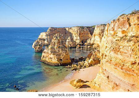 Praia de Marinha in the Algarve Portugal