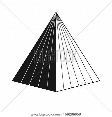 Symbol of the pyramid. Egypt, around 2800 BC. A symbol of wealth and of initiation into the magic of prosperity and abundance.
