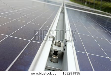 Middle Clamp of Solar PV Panel Installation poster