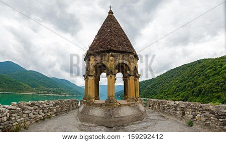 Top Of Ananuri, Castle Complex On The Aragvi River In Georgia