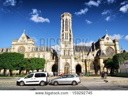 Catholic Church Of Saint Germain Of Auxerre In Paris, France.