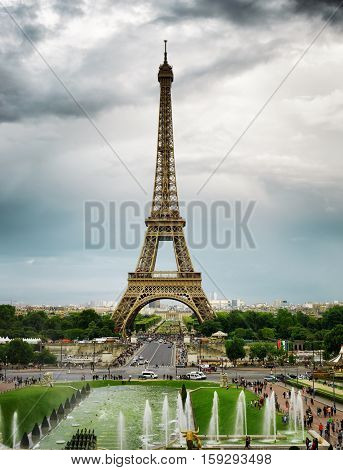The View Of The Eiffel Tower, Paris, France.
