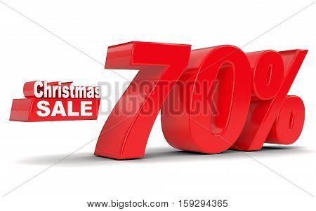 Christmas Sale. Discount Seventy Percent Off