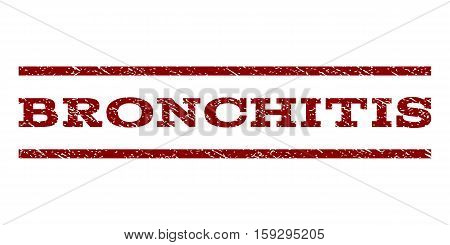 Bronchitis watermark stamp. Text caption between horizontal parallel lines with grunge design style. Rubber seal dark red stamp with scratched texture. Vector ink imprint on a white background.