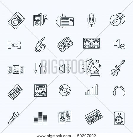 Set of vector icon graphic for Music
