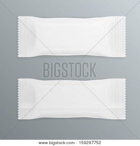 White Polyethylene Package For Chocolate Bar