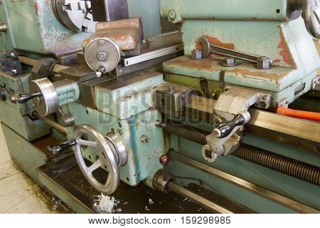 Drill Machinery In Tool Room