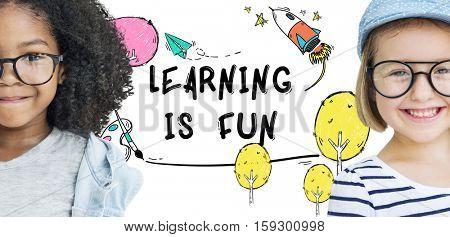 Children Imagination Learning Icon Concept