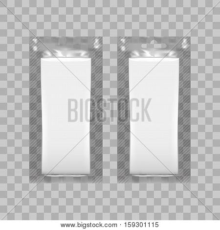 Blank Plastic Pack For Tissue Paper Or Wet Wipe. EPS10 Vector