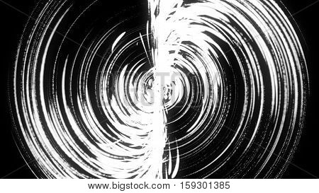 Abstract background with swirl particles. black and white Art background