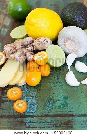 Various ingredients for strengthening the immune system