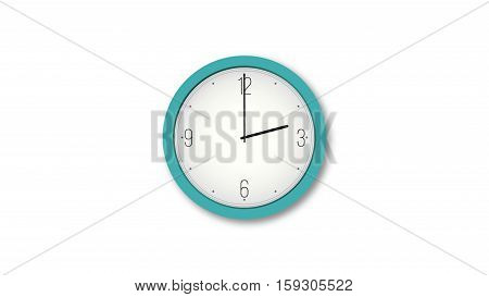 Turquoise clock at 2:00