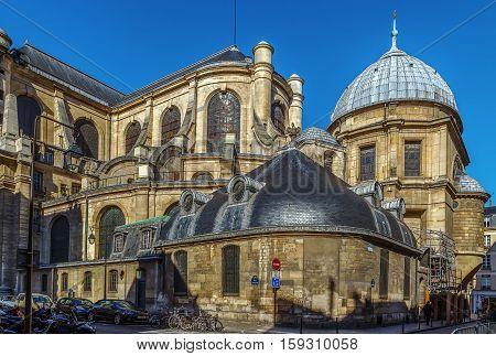 Church Saint-Sulpice is a Roman Catholic church in Paris France. View of Choir from southeast