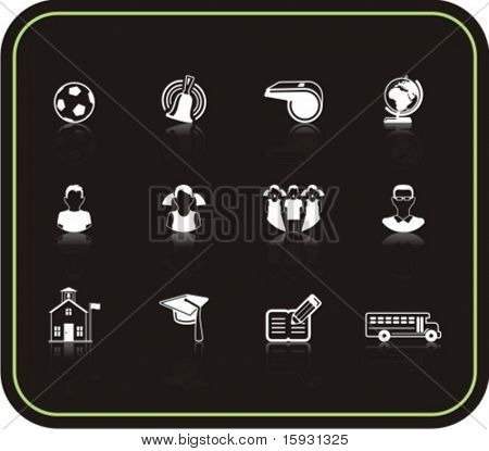 Exclusive Series of Education Icons. Check my portfolio for much more of this series as well as thousands of similar and other great vector items.