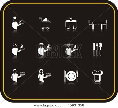 Exclusive Series of Hotel Services Icons. Check my portfolio for much more of this series as well as thousands of similar and other great vector items.