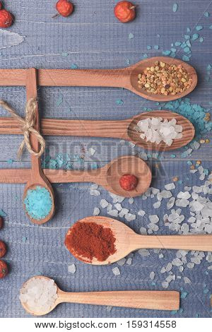 Ingredients For Cooking On Vintage Background