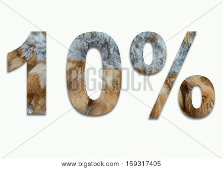 10% red fox fur in a font trained