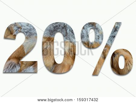 20% red fox fur in a font trained
