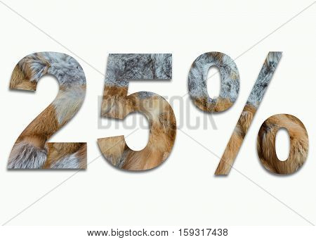 25% red fox fur in a font trained