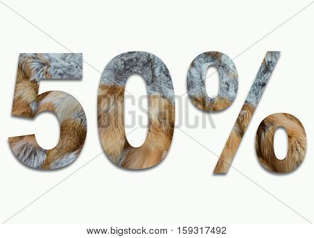 50% red fox fur in a font trained