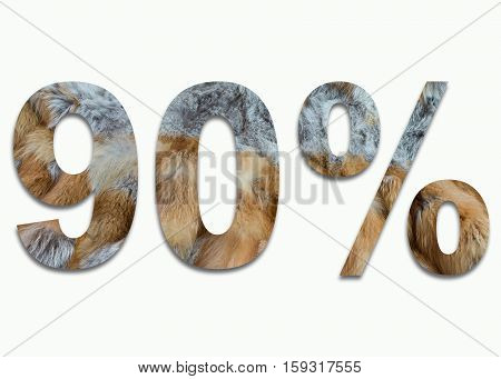 90% red fox fur in a font trained