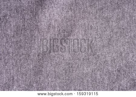 Close up of wrinkled grey cotton fabric texture background.