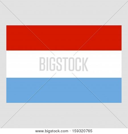 Flag of Luxemburg on a grey background