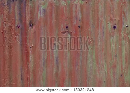 Rust Stripe On Galvanize Sheet For Background And Texture
