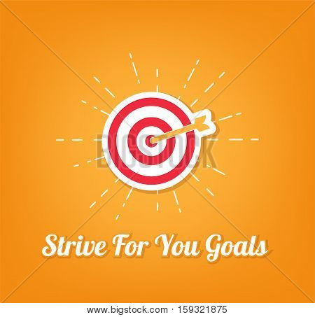 Point aim, Target. Sniper aim icon. Dartboard arrow and icons. Business achievement and success concept. Straight to aim symbol. Vector Illustration