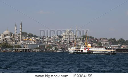 Eminonu And Fatih District In Istanbul City