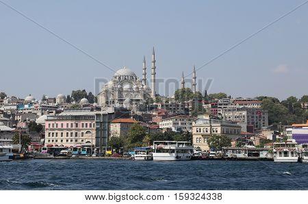 Suleymaniye Mosque In Istanbul City