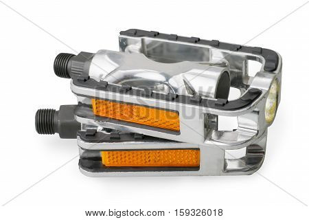 Bicycle pedals. Isolated on white with clipping path
