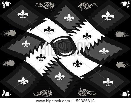 Black-and-white Texture Style Lattice Chessboard