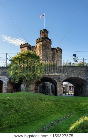 The Castle Newcastle is a medieval fortification in Newcastle upon Tyne England built on the site of the fortress which gave the City of Newcastle its name.