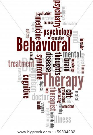 Behavioral Therapy, Word Cloud Concept 2