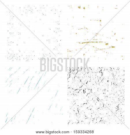 Set Texture. Wall Background. Vector Illustration. Simply Place illustration over any Object to Create grungy Effect abstractsplattered dirtyposter for your design.