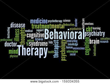 Behavioral Therapy, Word Cloud Concept 4