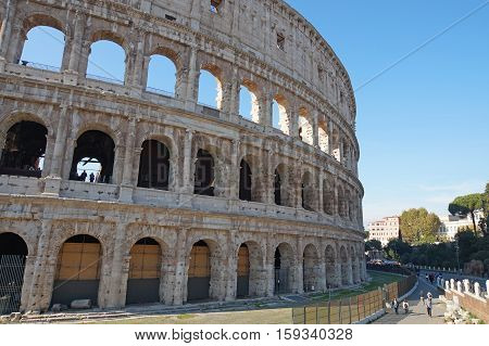 The Colosseum in Rome, Italy big historical arena