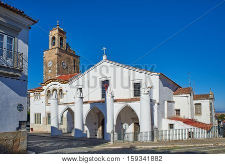 Igreja De Santa Maria Church In Beja, Alentejo. Portugal.