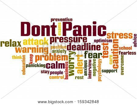 Dont Panic, Word Cloud Concept