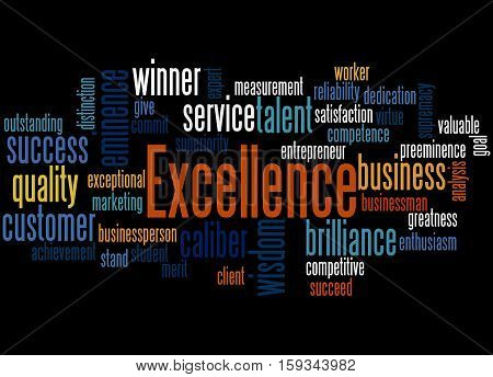 Excellence, Word Cloud Concept
