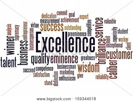 Excellence, Word Cloud Concept 2